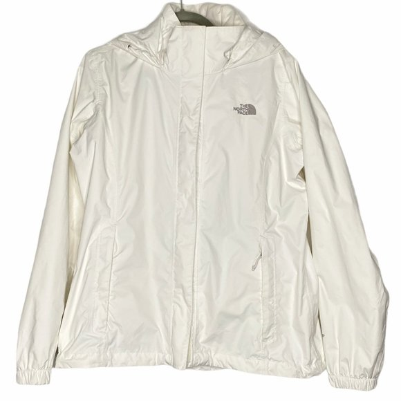 The North Face Hooded Jacket White Hidden Full Zip